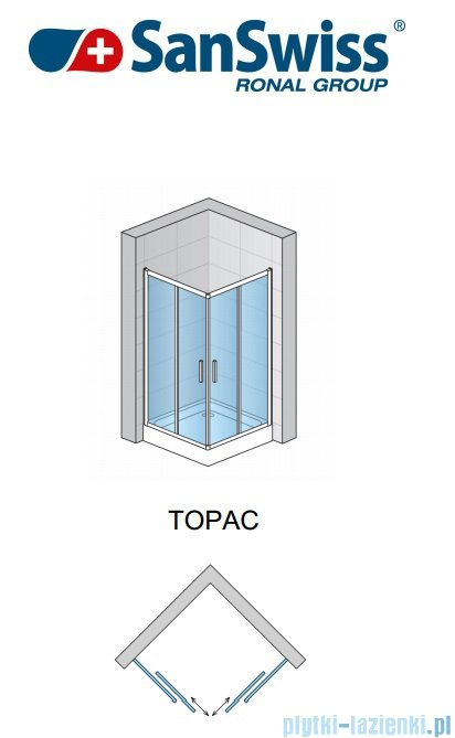 SanSwiss Top-Line TOPAC Kabina 70cm profil biały TOPAC07000407