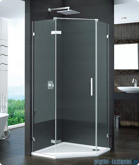 SanSwiss Pur PUR51 Drzwi 1-częściowe do kabiny 5-kątnej 45-100cm profil chrom szkło Cieniowanie czarne PUR51GSM11055