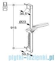 Kludi A-QAs Zestaw natryskowy 3S 90cm chrom 6574005-00