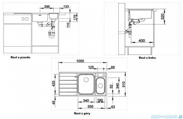 Blanco Axis II 6 S-IF zlewozmywak lewy stal szlachetna polerowana  z k. aut. i akcesoriami 516530