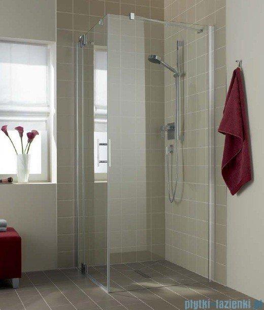Kermi Filia Xp Ściana boczna z profilem przyściennym, szkło przezroczyste z KermiClean, profile srebrne 80x200cm FXTWD08020VPK