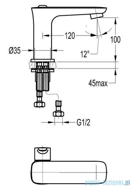 Omnires Hudson bateria umywalkowa sztorcowa chrom HS4110