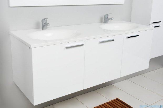 ANTADO Sycylia 45 Szafka podumywalkowa z szufladą 135x50x45 biały połysk KTS-140/3-WS