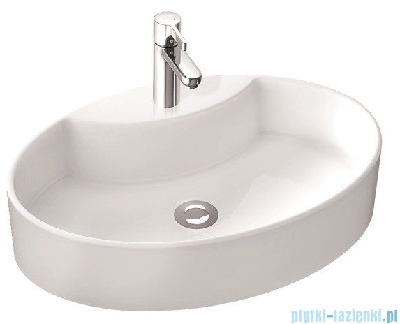 Marmorin umywalka nablatowa TONI bez otworu biała  495060020010