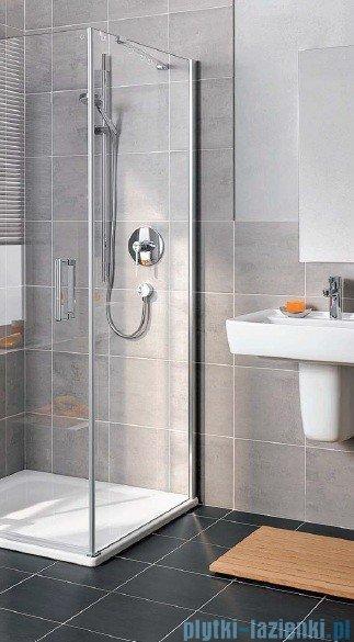 Kermi Gia XP Ściana boczna, prawa, szkło przezroczyste, profile srebro mat 80x185cm GXTWR080181AK