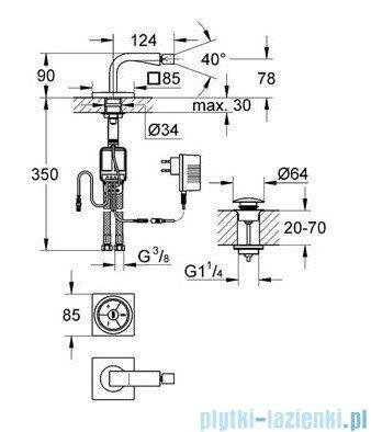Grohe Allure F-digital elektroniczna bateria bidetowa chrom 36346000