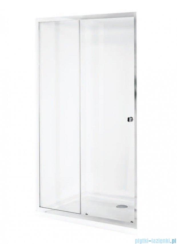 Besco Duo Slide drzwi prysznicowe przesuwne 140x195 przejrzyste DDS-140