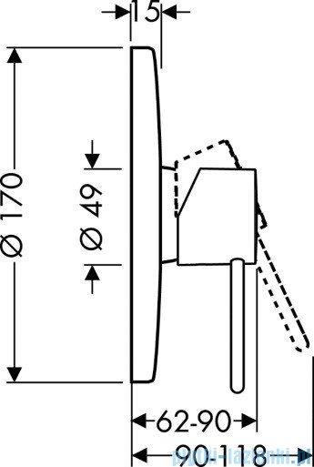 Hansgrohe Axor Uno² Jednouchwytowa bateria prysznicowa podtynkowa 38625000