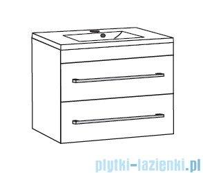 Antado Variete ceramic szafka z umywalką ceramiczną 2 szuflady 82x43x50 czarny połysk FM-AT-442/85/2GT-9017+UCS-AT-85