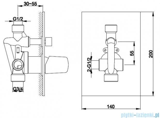Kohlman Dexame zestaw prysznicowy chrom QW210LQ30