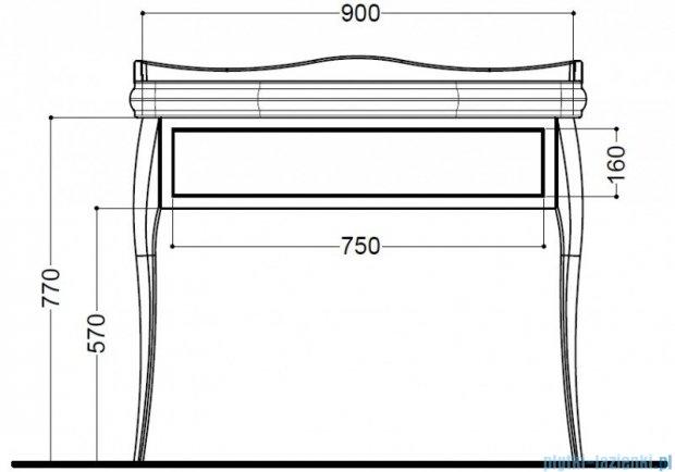 Kerasan Retro Stolik biały pod umywalkę chrom/chrom 7363K7