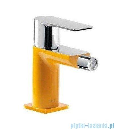 Tres Loft Colors Bateria bidetowa z korkiem automatycznym kolor żółty 200.120.01.AM.D