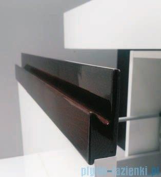 Antado Combi szafka z blatem lewym i umywalką Mia biały/ciemne drewno ALT-140/45GT-WS/dp+ALT-B/1-1000x450x150-WS+UCS-TC-60