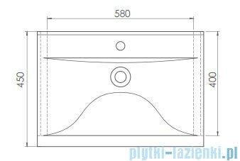 Cerastyle Side umywalka 65x45cm ścienna / meblowa 061500-u