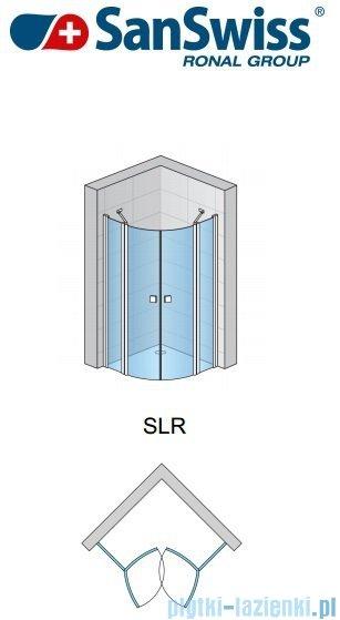 SanSwiss Swing Line SLR Kabina półokrągła 80-100cm profil połysk SLR55SM15007