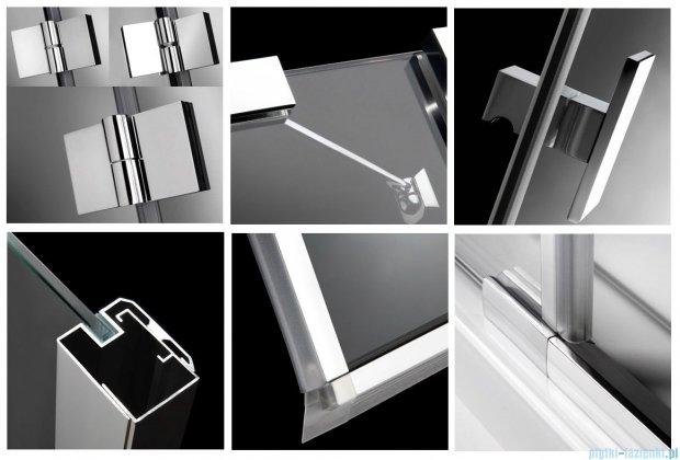 Radaway Kabina prysznicowa Essenza KDD 90x80 szkło przejrzyste + brodzik Doros D + syfon 32875-01-01NL