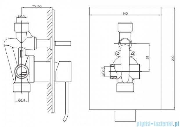 Kohlman Axis zestaw prysznicowy chrom QW210NQ35