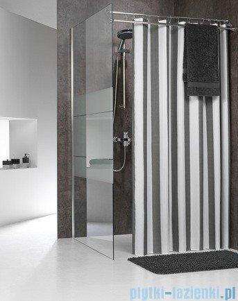 Sealskin Linje szara zasłona prysznicowa tekstylna 180x200cm 233011314