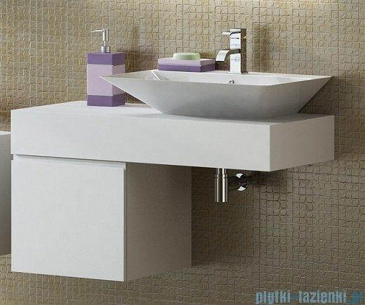 Antado Combi szafka prawa z blatem i umywalką Libra biały/jasne drewno ALT-141/45-R-WS/dn+ALT-B/3C-1000x450x150-WS+UCS-TC-66