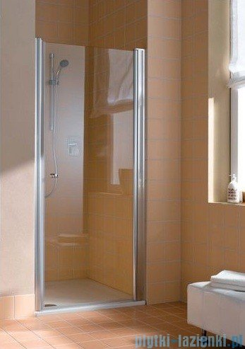 Kermi Atea Drzwi wahadłowe jednoskrzydłowe prawe, szkło przezroczyste, profile srebrne 75cm AT1WR07518VAK