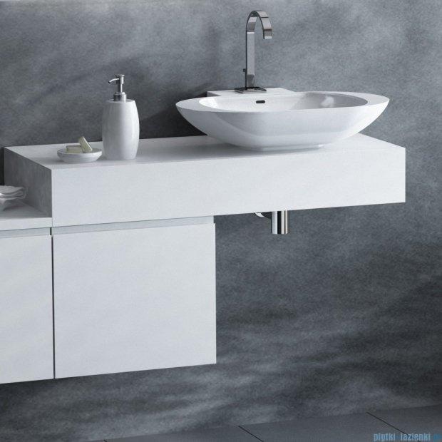 Antado Combi szafka lewa z blatem i umywalką Mia biały/ciemne drewno ALT-141/45-L-WS/dp+ALT-B/1C-1000x450x150-WS+UCS-TC-60