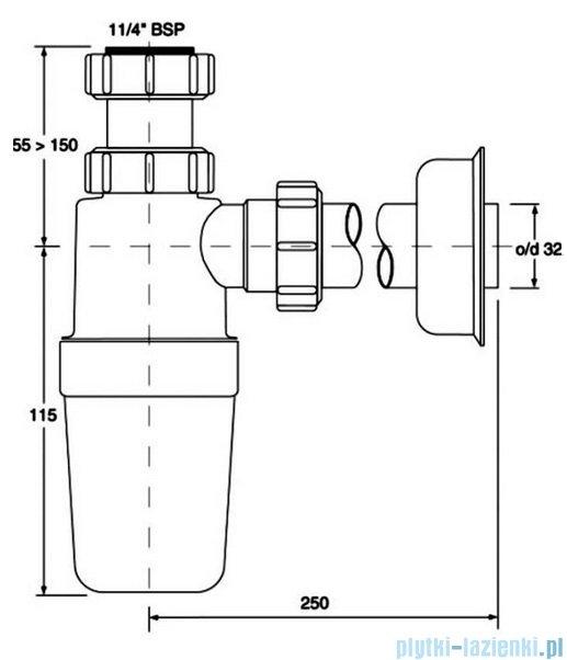 McAlpine Syfon umywalkowy HC2-J