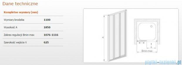 Sanplast drzwi przesuwne  DTr-c-110 szkło Sitodruk W4 600-013-1721-01-410