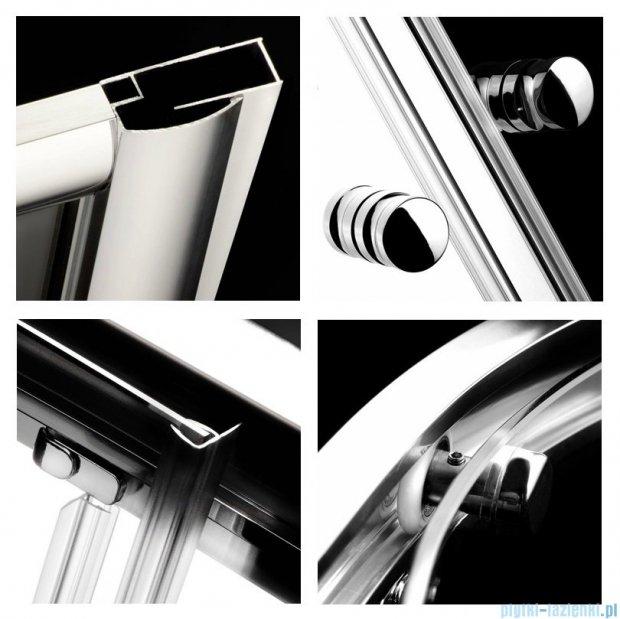 Radaway Classic A Kabina prysznicowa półokrągła z drzwiami przesuwnymi 80x80x170 szkło fabric 30011-01-06