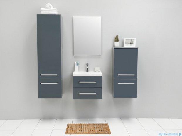 Antado Variete szafka z umywalką, wisząca z dwiema szufladami 50x39x40 szary połysk FM-C-442/5/2GT-K917 + UMMC-500X390