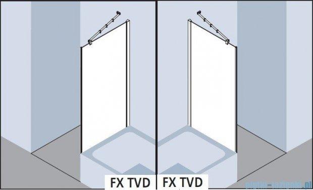 Kermi Filia Xp Ściana boczna skrócona obok wanny, szkło przezroczyste, profile srebrne 90x175cm FXTVD09017VAK