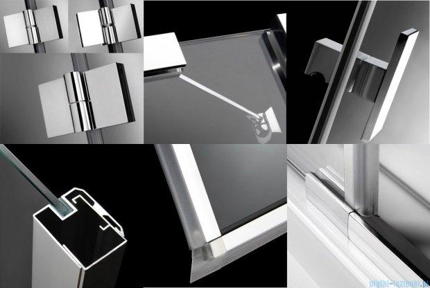 Radaway Essenza KDJ+S kabina 90x90 prawa szkło przejrzyste + Brodzik Delos C + syfon 32902-01-01R