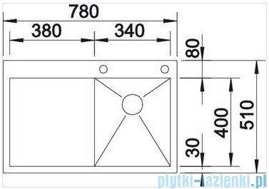 Blanco Zerox 4 S-IF zlewozmywak prawy  stal szlachetna polerowana  z k. aut.  513704