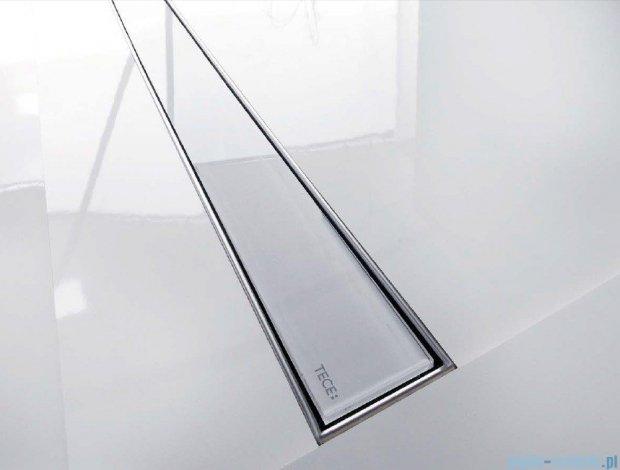 Tece Ruszt prosty ze szkła Tecedrainline 100cm szkło białe 6.010.91