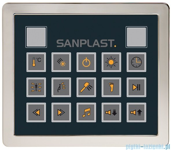 Sanplast Space Line kabina parowo-hydromasażowa KN/SPACE LINE-HP lewa 100x100x220 cm 630-100-0410-39-401