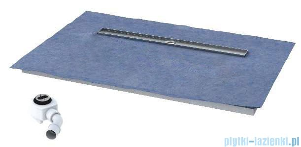 Schedpol brodzik posadzkowy podpłytkowy z odpływem Circle 120x90x5cm 10.011/OLDB/CE