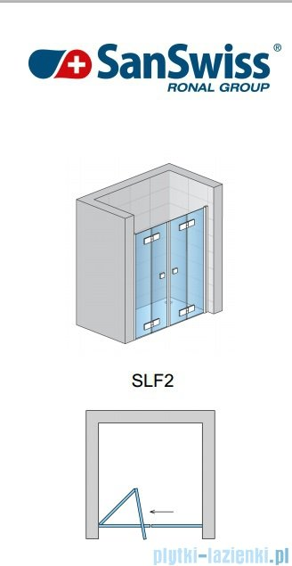 SanSwiss Swing Line F SLF2 Drzwi składane 120cm profil srebrny SLF212000107
