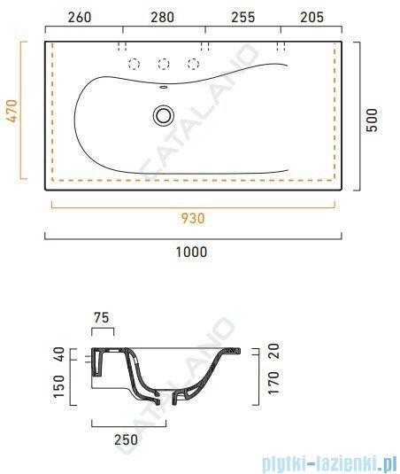 Catalano Impronta 100 umywalka 100x50 biała 1100IM00