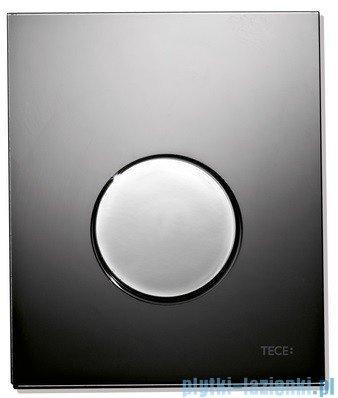 Tece Przycisk spłukujący ze szkła do pisuaru Teceloop szkło czarne, przycisk chrom połysk 9.242.656