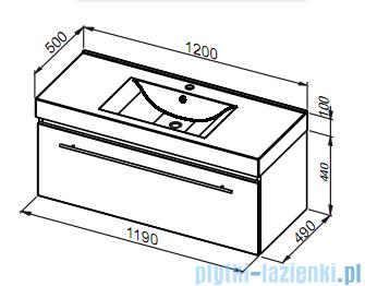 Aquaform Decora szafka podumywalkowa 120cm antracyt 0401-542013
