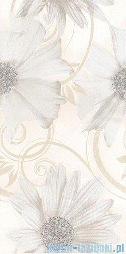 Paradyż Sabro bianco kwiat inserto ścienne 29,5x59,5