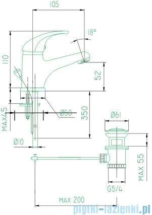 KFA BARYT Bateria umywalkowa stojąca chrom 552-815-00