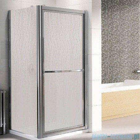 Novellini Drzwi prysznicowe obrotowe do wewnątrz LUNES O 66 cm szkło przejrzyste profil srebrny LUNESO66-1B