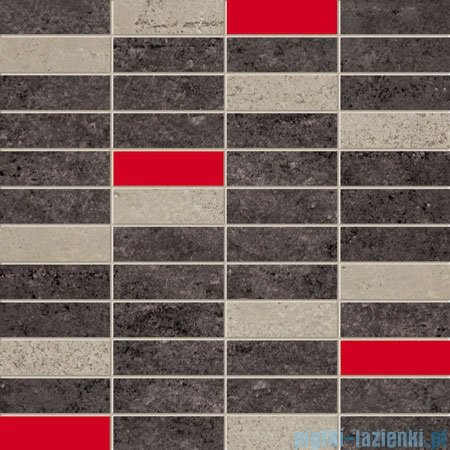 Domino Bihara grafit mozaika ścienna 29,8x29,8