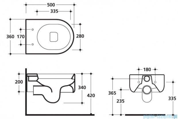 Kerasan Flo miska WC wisząca 3115