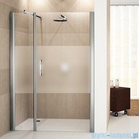 Novellini Drzwi do wnęki z elementem stałym GIADA G+F 120 cm prawe szkło przejrzyste profil srebrny GIADNGF120D-1B