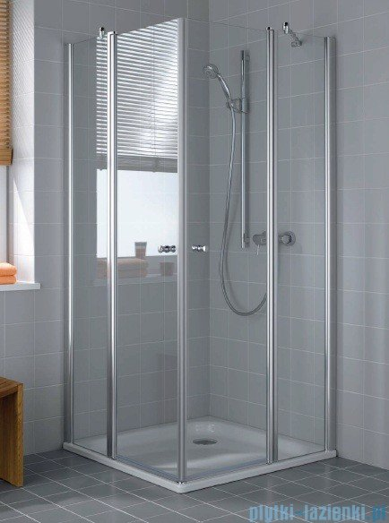Kermi Atea Drzwi wahadłowe z polem stałym, prawe, szkło przezroczyste, profile srebrne 80cm ATESR08018VAK