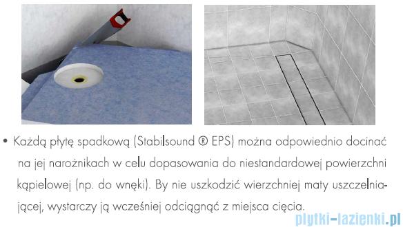 Schedpol brodzik posadzkowy podpłytkowy z odpływem Stamp 120x70x5cm 10.005/OLDB/SP