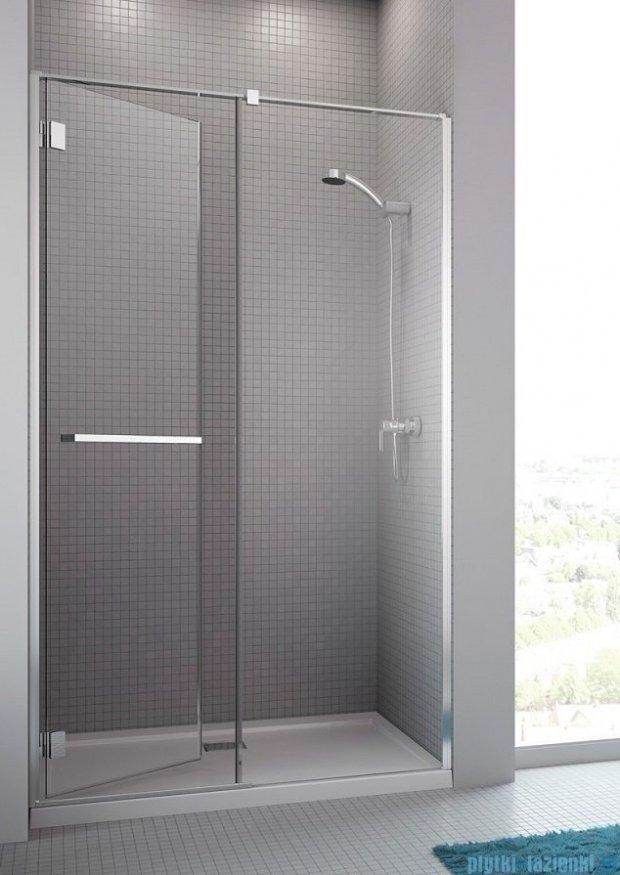 Radaway Carena DWJ Drzwi prysznicowe 100 lewe szkło przejrzyste + brodzik Delos C 34322-01-01NL