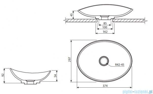 Marmorin umywalka nablatowa Tinette biała P545028020010