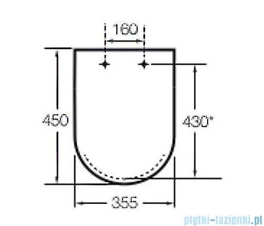 Roca Dama-n Deska WC twarda wolnoopadająca biała A801782004